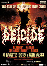 Concert DEICIDE in Club Fabrica din Bucuresti