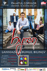 Concert de lansare album Byron la Cluj-Napoca