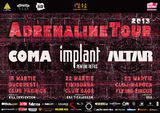 Adrenaline Tour: concert Coma, IPR si Altar in Cluj-Napoca