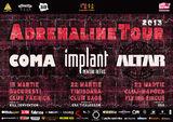 Adrenaline Tour: concert Coma, IPR si Altar in Cluj-Napoca