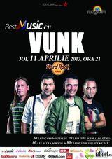 Vunk: Concert la Hard Rock Cafe Bucuresti pe 11 aprilie