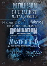 Bucharest Metal Nights X in martie la Club Fabrica din Bucuresti