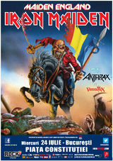 Concert Iron Maiden si Anthrax in Romania 2013