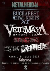 Bucharest Metal Nights XI la Bucuresti: Concerte VEIL OF MAYA