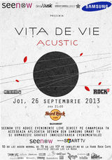 Concert Vita de Vie - Acustic in Hard Rock Cafe, Joi, 26 Septembrie