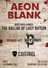 Concert Aeon Blank in Club Control, Marti 1 Octombrie