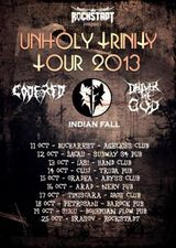 Unholy Trinity - Concert Deliver the God, Code Red si Indian Fall la Cluj-Napoca, in Truda Pub, pe 14 Octombrie