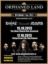 Concert Orphaned Land la Cluj-Napoca, in Flying Circus Pub, pe 17 Octombrie