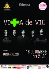 Primul concert electric Vita de Vie din acest an, in Club Fabrica, pe 18 Octombrie