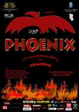 Concert Phoenix in Piata Prefecturii din Craiova, duminica 27 octombrie