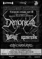 Concert Demonical, Spasmodic, Hailstone si Sincarnate in Brasov, pe 21 Octombrie