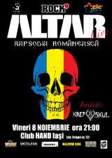 Concert Altar la Iasi, in Club Hand, Vineri 8 Noiembrie