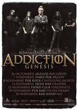 Trupa Addiction anunta datele turneului de promovare