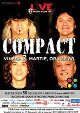 Concert Compact pe 7 martie la Club Live din Bucuresti