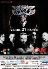 Concert Cargo pe 21 martie la Club Live din Bucuresti