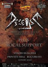 Concert Decease in aprilie la Private Hell