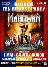 Release party MANOWAR - 'Kings Of Metal MMXIV' pe 7 mai la Silver Church