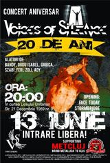 Concert aniversar Voices Of Silence pe 13 iunie la Cluj-Napoca
