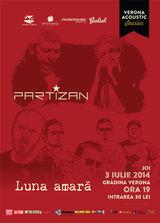 Concert acustic Partizan si Luna Amara joi, 3 iulie, la Gradina Verona