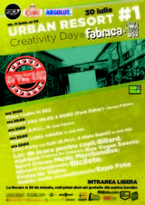 Urban Resort #1: 30 iulie - Creativity Day in Club FABRICA: