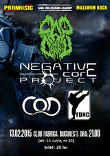 Cap de Craniu, Negative Core Project, C.O.D. si First Division concerteaza in Club Fabrica pe 13 februarie