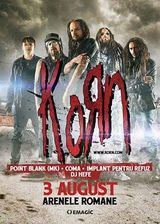 Concert Korn la Bucuresti pe 3 August la Arenele Romane