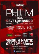 Dave Lombardo alaturi de Philm in concert la Bucuresti pe 6 Martie