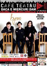 Trupa byron canta la Craiova pe 18 februarie in Cafe Teatru Play