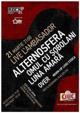 Concert Maraton Live L'Ambasador: Alternosfera, Omul cu Sobolani si Luna Amara