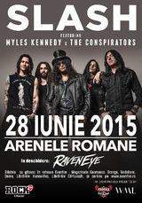 Concert incediar la final de iunie: Slash feat. Myles Kennedy & The Conspirators la Arenele Romane