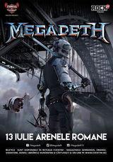 Concert Megadeth la Arenele Romane pe 13 Iulie