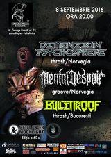 Concert Dimenzion Psychosphere si Mental Despair pe 8 septembrie in Club Black Helmets