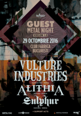 Vulture Industries, Alithia si Sulphur concerteaza in Club Fabrica