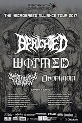 Concert Benighted, Wormed, Unfathomable Ruination si Omophagia in Fabrica