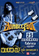 Bumblefoot va sustine un concert in clubul Fabrica din Bucuresti pe 25 Septembrie