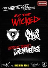 For The Wicked, Breathelast, Twist Of Fate si Valak in Bucuresti (Quantic, 16.03)