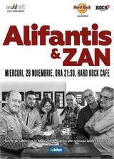 Concert Alifantis & ZAN pe 28 Noiembrie in Hard Rock Cafe