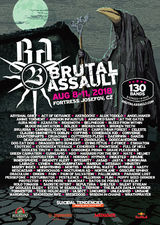 Brutal Assault, August 8 - 11, 2018, Fortress Josefov - Jaromer