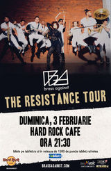 Concert Brass Against pe 3 februarie la Hard Rock Cafe