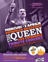 Bohemian Rhapsody - Queen Tribute Show by Merqury Legacy pe 3 aprilie in Beraria H