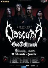 Concert Obscura si God Dethroned la Quantic pe 21 Februarie