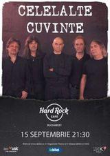 Concert Celelalte Cuvinte pe 15 septembrie la Hard Rock Cafe