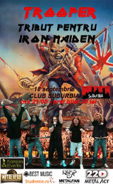 Concert tribut IRON MAIDEN cu Trooper in Suburbia
