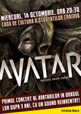 Avatar si Semiosis concerteaza maine in Craiova!