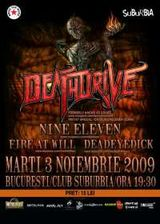 Deathdrive, Nine Eleven, Fire at Will si Deadeye Dick concerteaza in Suburbia