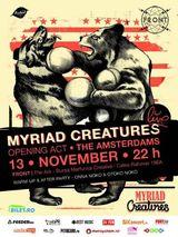 Myriad Creatures si The Amsterdams concerteaza la The Ark