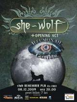 She-Wolf si Illusion Of Control concerteaza la Cluj Napoca