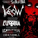 Concert Krow, Eufobia, Korruption si DinUmbra in Suburbia