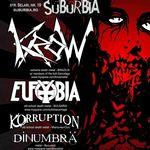 Concert Krow, Eufobia, Korruption si DinUmbra in Suburbia