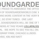 Soundgarden confirmati pentru Lollapalooza 2010